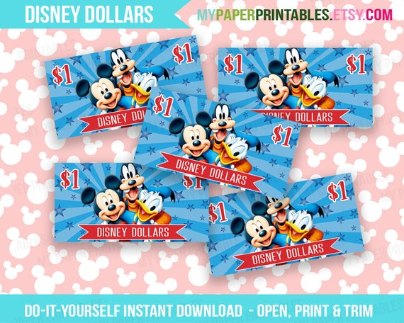 picture relating to Disney Dollars Printable identified as Printable Disney Money Instantaneous Down load Disney World wide Disneyland Mickey Minnie Mouse Children Disney Do it yourself Young children Exciting Economical Disney Dollars