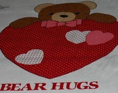 Valentine Heart Pillow Panel With Dog Decoration To Sew