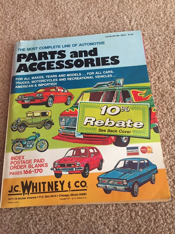 Auto parts and accessories catalog 1977