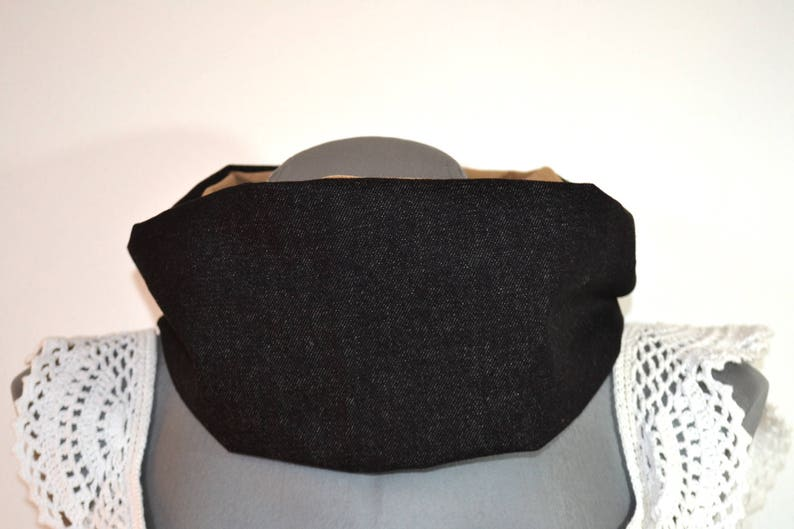 CowlSnood Jeans black and Caramel