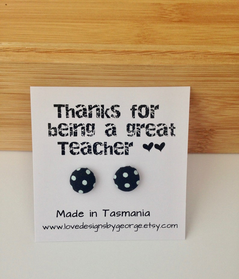 Teacher Christmas Gifts Black and White Earrings Teacher image 0