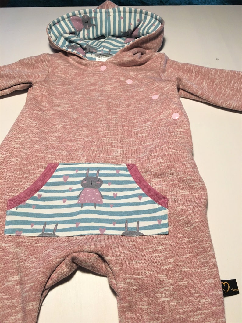 suit 74 Baby Overall Hare from Sweat in size 74 pink girl newborn Gr jumpsuit baby gift