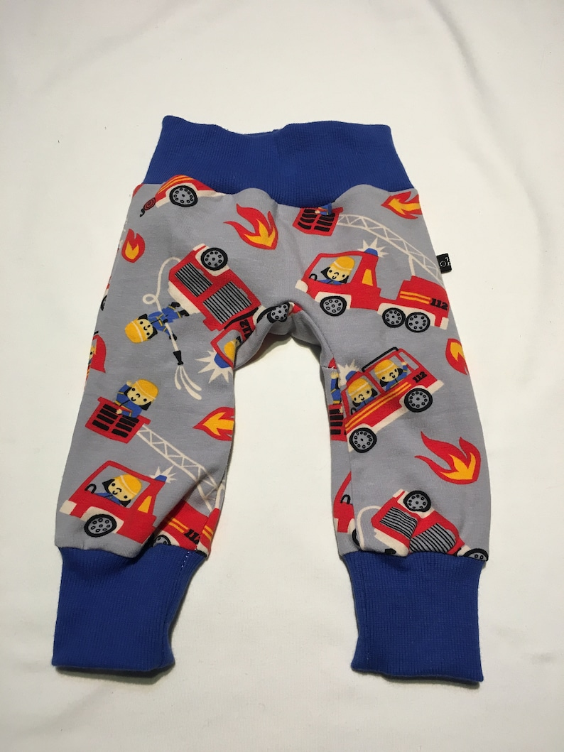 unisex baby boy 56 baby pants fire brigade made of cotton jersey in size 56 Size newborn outfit watchtold pants auto baby boy