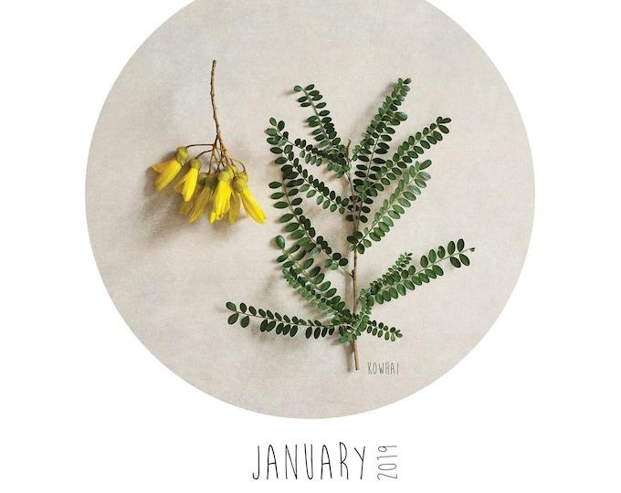 New Zealand Flora 2019 A3 calendar refill