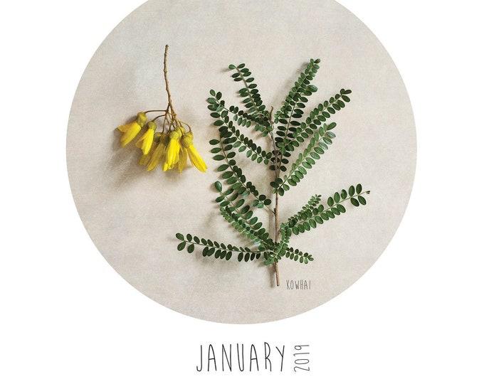 A4 New Zealand Flora  calendar