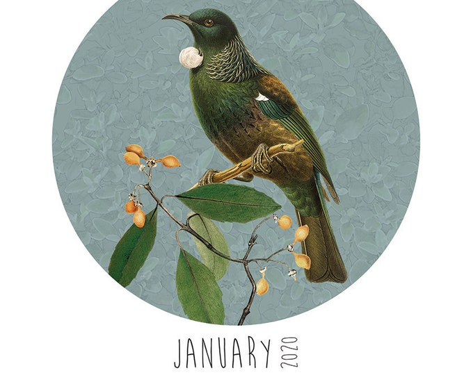 A5 2020 Calendar - Native Bird, Paper Bird, Native Flora or Earth Goddess