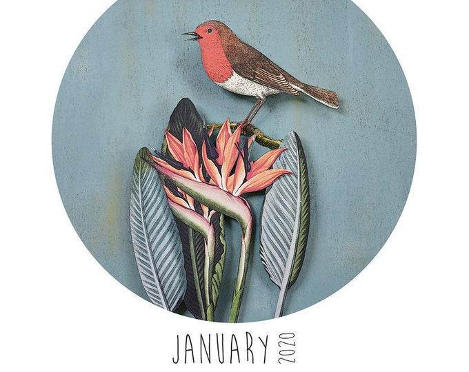 2020 A4 Paper Birds calendar