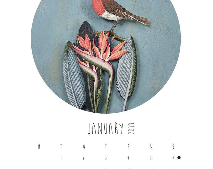 A5 Paper Birds Calendar