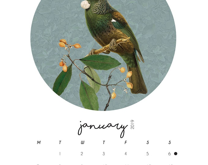 A5 Native Bird Calendar 2019