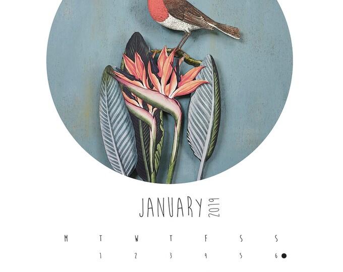 A3 Paper Birds Calendar Refill