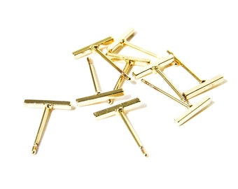 Fine Line stud earrings, bar earrings ,minimalist earrings, gold studs, bar stud earrings, tiny studs, simple earrings