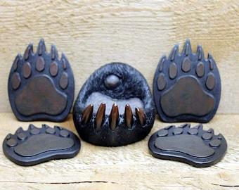 Bear Paw Table Coaster Set