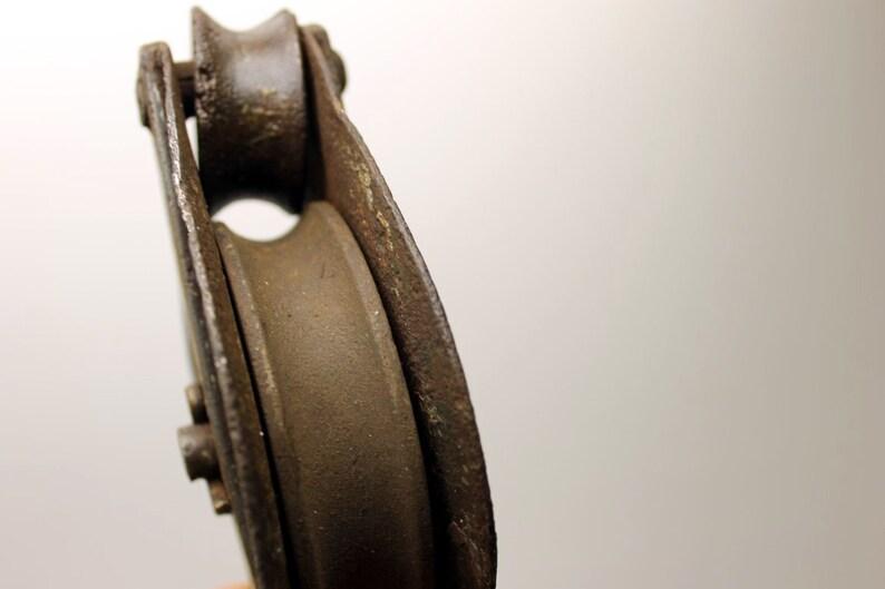 Two Steel Vintage Pulleys