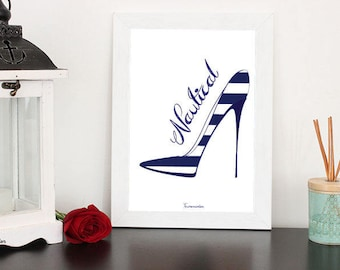 Shoe A4 poster without frame (several models)