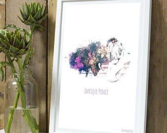 Enrique Ponce color A4 unframed print