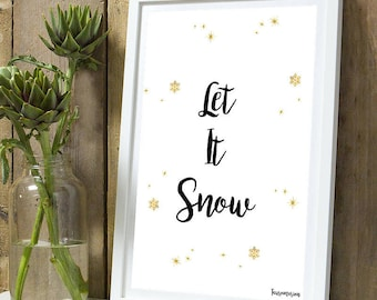 Christmas * Let is snow A4 unframed print