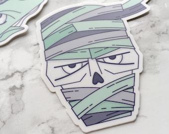 Mummy Sticker, Mummy Laptop Sticker, Vinyl Sticker, Monster Sticker, Tablet Sticker, Mummy Gift