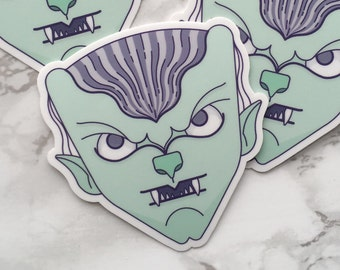 Werewolf Sticker, Werewolf Laptop Sticker, Vinyl Sticker, Monster Sticker, Tablet Sticker, Werewolf Gift