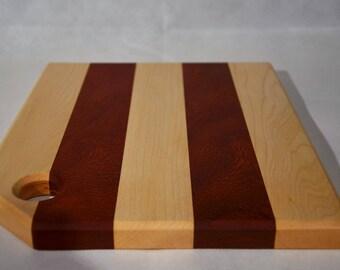 Padauk And Maple Chopping Board.