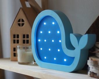 Kinderkamer Lamp Dolfijn : Walvis lamp etsy
