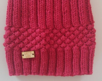Hand-knit Berry Hat