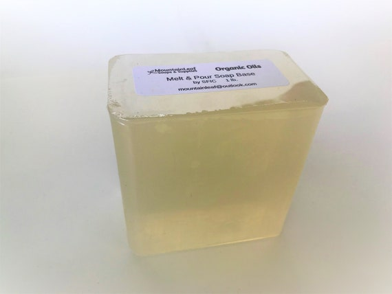 Natural Organic Oils Glycerin Melt and Pour Soap Base by SFIC - 2, 4 or 6  lbs - No SLS - Non GMO - Biodegradable Soap Making Diy