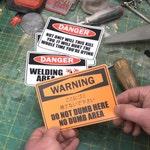 WARNING! Stickers MK. II