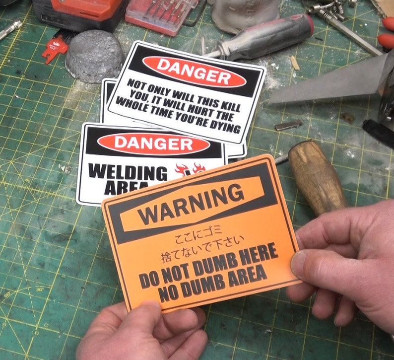 WARNING Stickers MK. II image 0