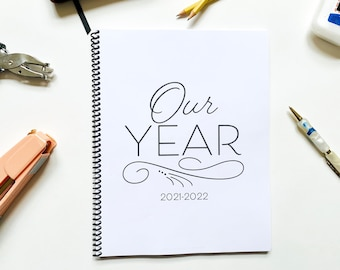 Our Year Homeschool Planner and Learning Tracker, Back or Reverse Planner, Simple planner, academic planner, Minimalist, dated and undated