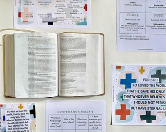 Bible Reading Plan and Calendar for Families, Devotional, Lamp and Light Bible Reading Guide, Good News, The Gospel
