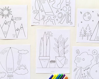 Sermon Notes for Kids, Set of 6, Coloring and Note-Taking Pack for Kids, Instant Download