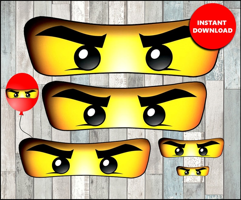 photo relating to Printable Ninjago Eyes named Ninjago eyes for Bag, Balloon, Stickers, Lollipop, Cups immediate down load, Printable Ninjago eyes 5 measurements , Ninjago Eye
