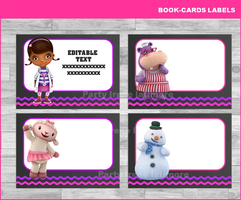 picture about Doc Mcstuffins Printable Labels identify Document McStuffins Printable Playing cards, tags, e book labels, stickers, young children playing cards, reward tags, labeling, sbooking EDITABLE Fast Obtain