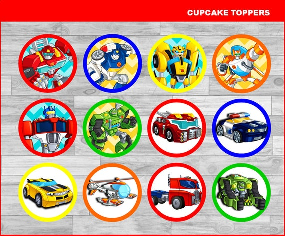 Rescue Bots Toppers Instant Download Printable Rescue Bots