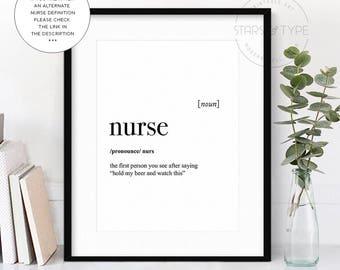 Nurse poster etsy for Millwork definition