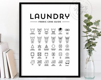 picture regarding Laundry Symbols Printable referred to as Laundry symbols Etsy