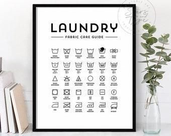 graphic relating to Printable Laundry Symbols named Laundry symbols Etsy