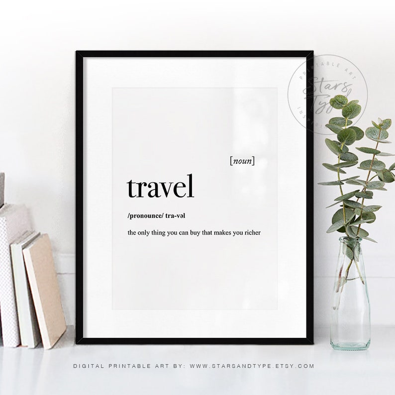 picture regarding Etsy Printable Wall Art referred to as Drive Dictionary Definition This means, PRINTABLE Wall Artwork, Push Offers Indication, Wanderlust, Progressive Black Fashion, Property Decor, Electronic Print Jpeg