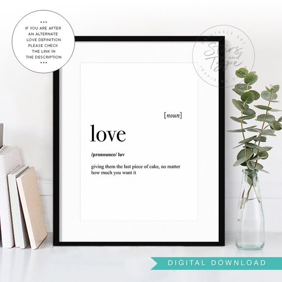 Love Dictionary Definition Meaning Funny Love Quote Love Etsy