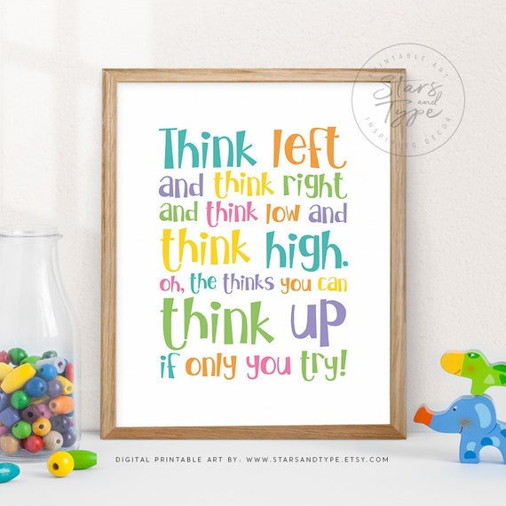 graphic about Etsy Printable Wall Art referred to as Believe Remaining and Believe that Directly, PRINTABLE Wall Artwork, Inspiring Estimates, Little ones Bed room Playroom Decor, Vibrant Rainbow Design, Electronic Print Jpeg