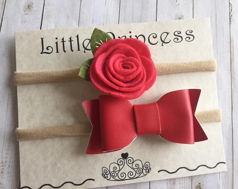 Baby Valentine Headbands SALE! Free shipping within Canada baptism headband flower girls baby shower baby headband baby girls