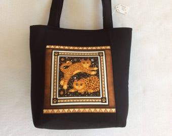 Framed Cats,Tote, Purse, Shoulder Bag, Work Bag, Nurse Tote, Beach Bag, Diaper Bag, Gift Bag, Travel Bag