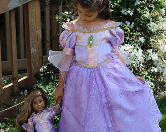 Rapunzel Costume / Tangled Costume / Rapunzel Dress / Dolly and Me Matching Rapunzel Gown