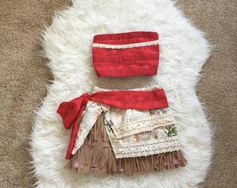 Moana Outfit / Moana Dolly and Me Matching Outfit / Moana Costume / Moana Dress