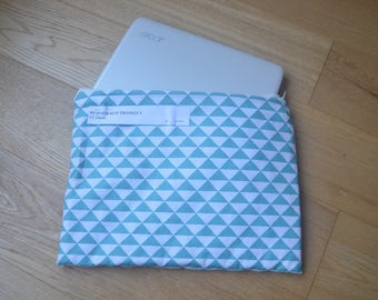 Laptop cover up blue