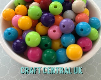 500g FAUX PEARL BEADS MIX MULTI-COLOUR SELECTION CRAFTS JEWELLERY MAKING BEADING