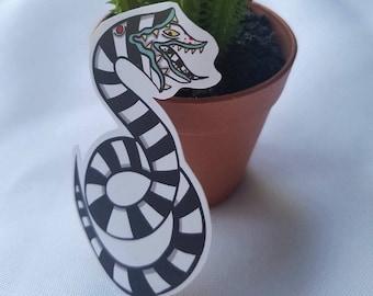 Beetlejuice Snake Sticker| Lydia| Burton