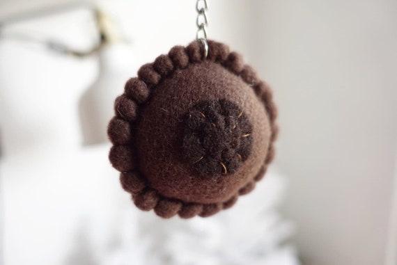 CHOCOLATE Mini Boob Keychain OBYGN Doula Midwife Female  9510f0c37
