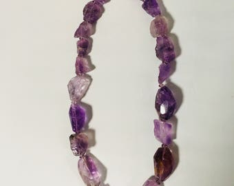 Chunky Amethyst Glowing Necklace