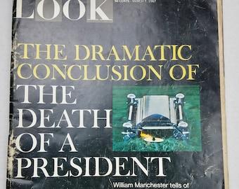 LOOK Magazine March 7,1967 John F Kennedy Death National Park William Buckley Jr